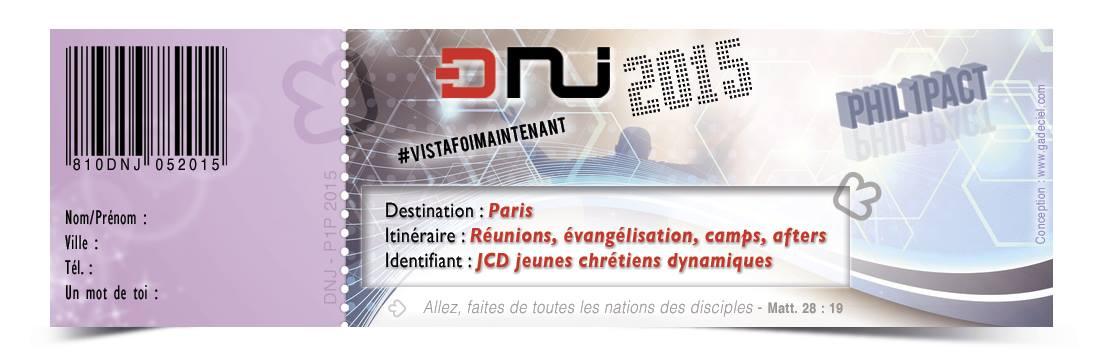 GADCIEL Ticket Factice DNJ2015